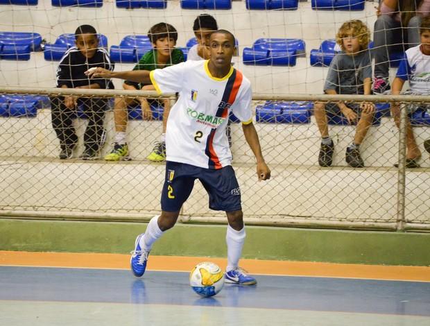 Sávio Valladares Botafogo/Casa de España futsal (Foto: Léo Borges/NaJogada)