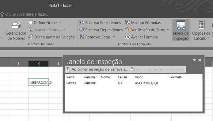 Use a Inspeção para encontrar erros nas fórmulas de uma planilha (Foto: Reprodução/Filipe Garrett)