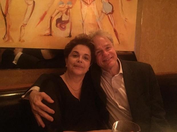 Dilma Rousseff e James Green (Foto: Reprodução Facebook)