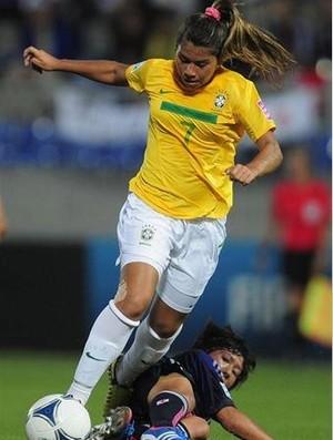 Mayara atuando contra o Japão (Foto: Arquivo pessoal)