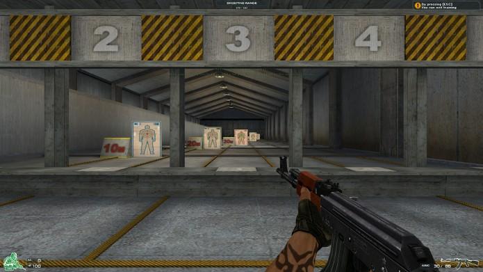 Procure se movimentar e a atirar pequenas rajas para aumentar a precisão dos disparos (Foto: Reprodução / fanup)