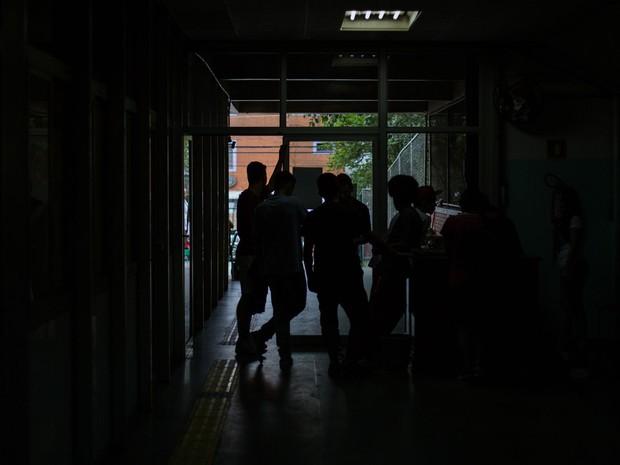 Estudantes ocupam a Escola Estadual Caetano de Campos, na Aclimação (Foto: Victor Moriyama/G1)