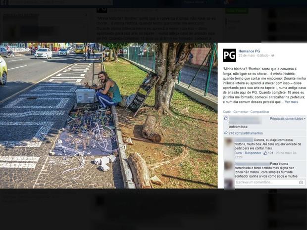 Um dos posts mais populares teve mais de 2,3 mil curtidas  (Foto: Reprodução/Facebook)