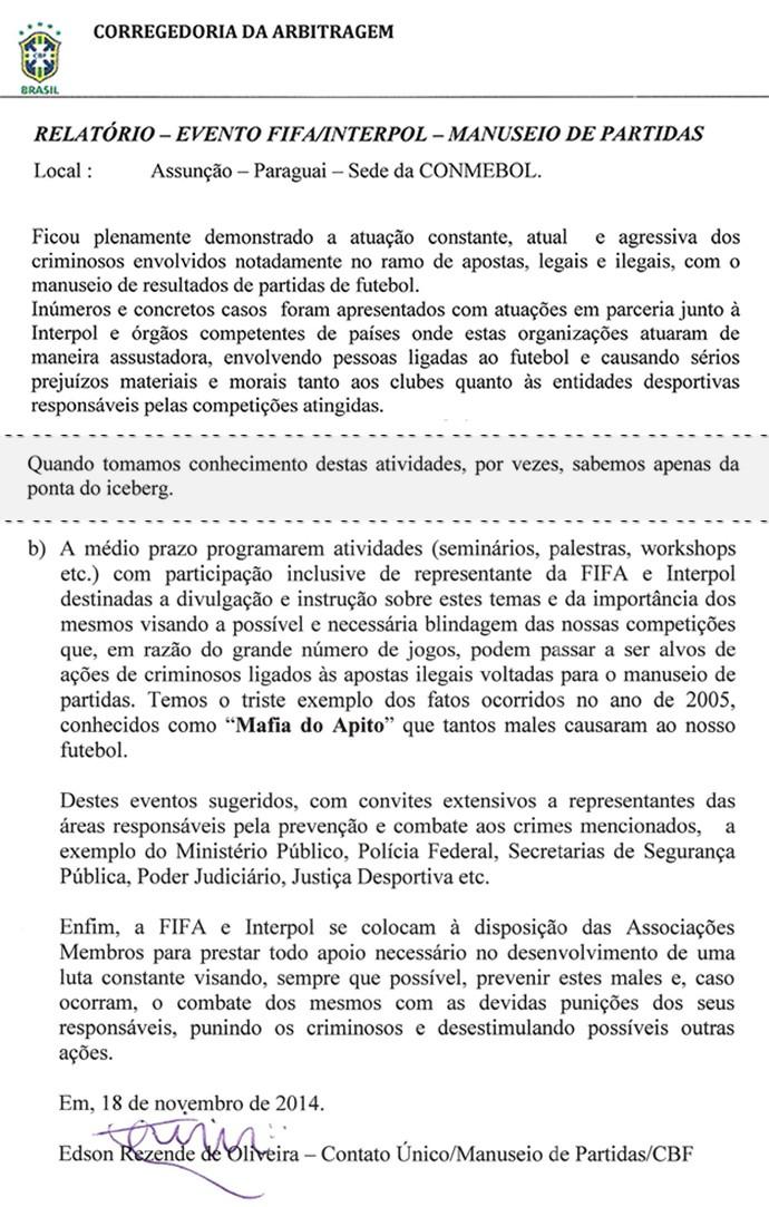 Documento Série de Arbitragem (Foto: Reprodução)
