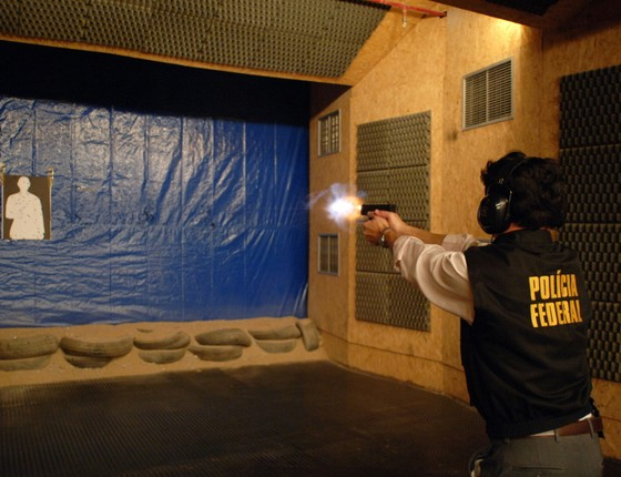 Perícia balística da Polícia Federal (Foto: PF)
