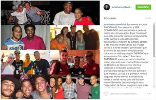 Jonathan Costa em post na web (Foto: Reprodução/Instagram)