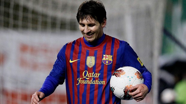 messi barcelona gol rayo vallecano (Foto: Ag&#234;ncia AP)