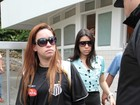 Irmãs de Champignon chegam para o velório em Santos