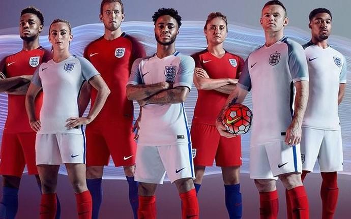 29195e3b74 Inglaterra uniforme eurocopa (Foto  Divulgação) Inglaterra segue ...