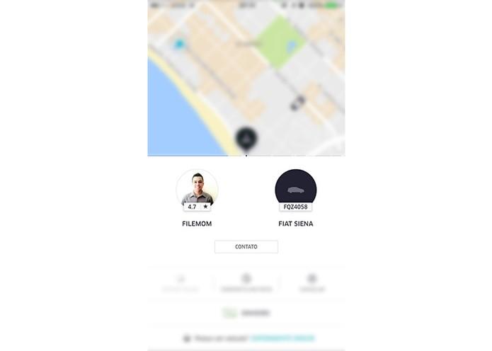 É possível ligar para o motorista através do app (Foto: Reprodução/Karen Malek)