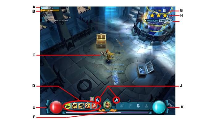 A interface das batalhas (Foto: Reprodução/Daniel Ribeiro)