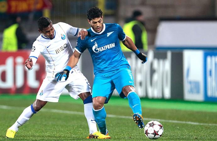 Hulk jogo Zenit contra Porto  (Foto: AP)