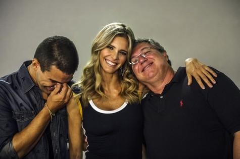 André Marques, Fernanda Lima e Boninho (Foto: Alex Carvalho/ TV Globo)