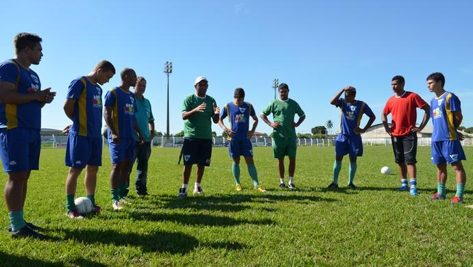 Ariquemes em treino, no Valerião (Foto: Eliete Marques)