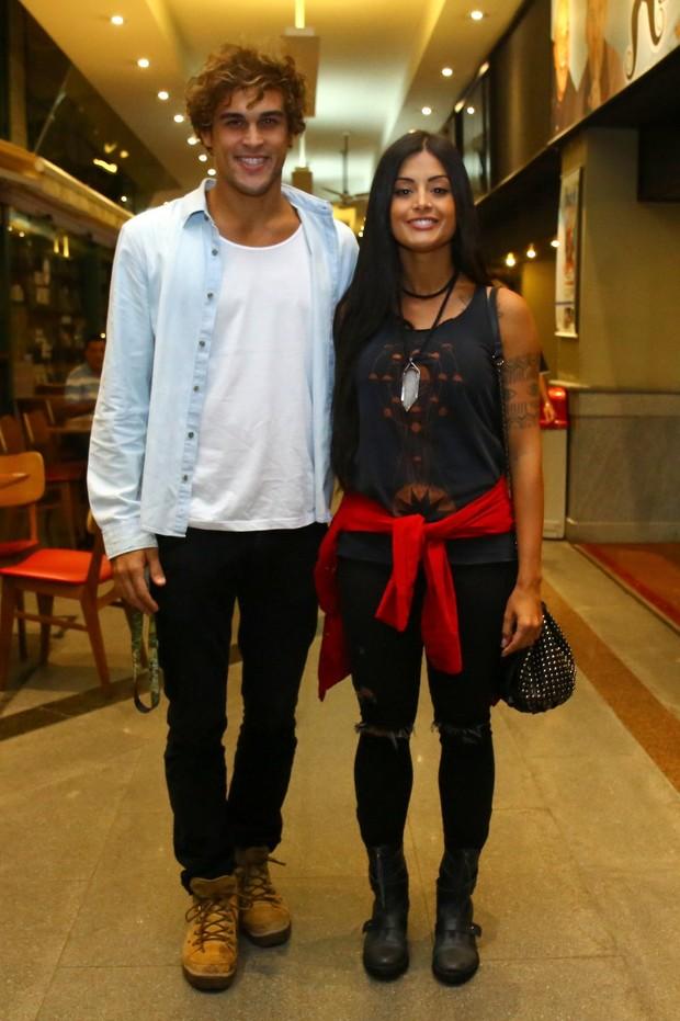 Felipe Roque e Aline Riscado (Foto: Wallace Barbosa/ Ag News)