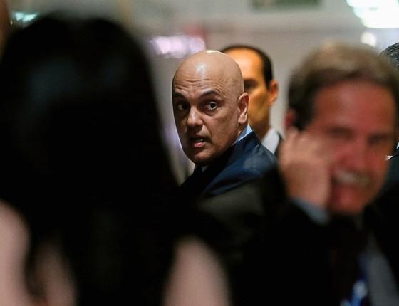 O ex-ministro Alexandre de Moraes busca votos no Senado para ir ao Supremo (Foto: Alan Marques/Folhapress)