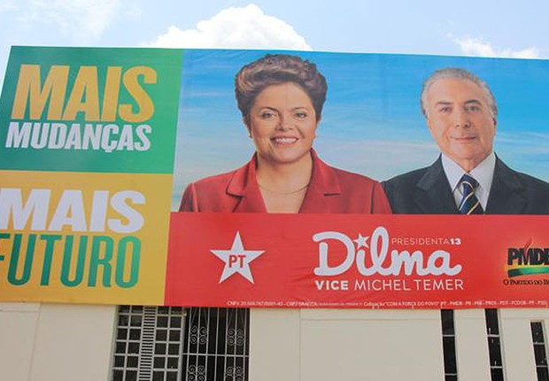 Propaganda de campanha da champa Dilma Rousseff e Michel Temer no Piauí (Foto: Reprodução/Facebook)