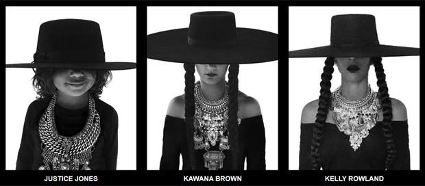 Justice Jones, Kawana Brown e Kelly Rowland (Foto: Divulgação)