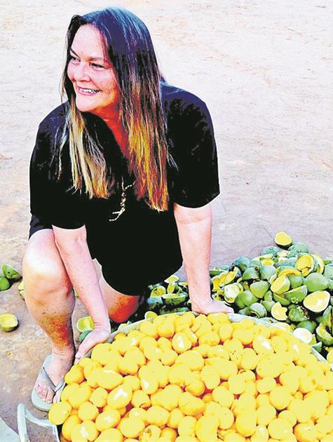 Paula Saldanha, no Alto Xingu (Foto: Arquivo pessoal)