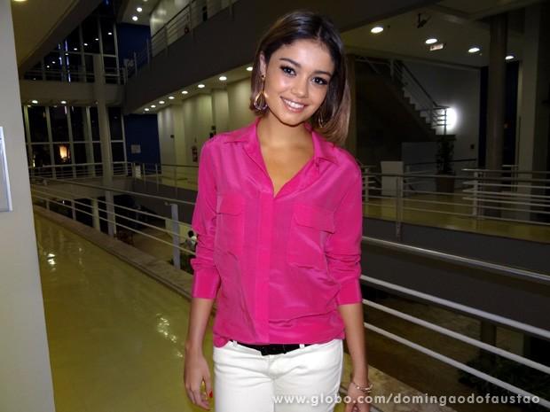 Sophie Charlotte nos bastidores do Domingão (Foto: Domingão do Faustão / TV Globo)