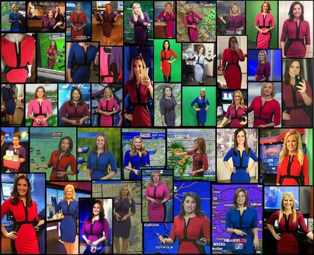 Vestido vira febre entre apresentadoras de TV nos Estados Unidos (Foto: Reprodução/Facebook)