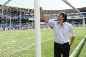 Aos 39, Danrlei queria ir além: 'Sonho era jogar aqui até hoje' (Lucas Rizzatti/Globoesporte.com)