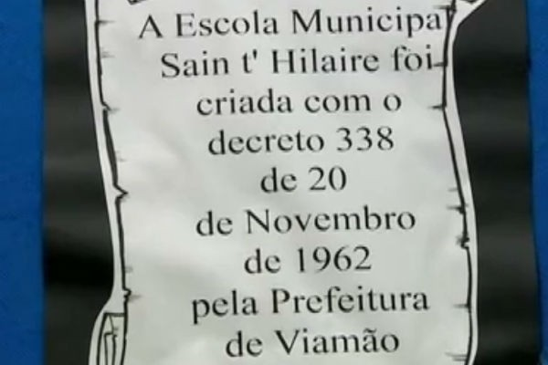 Escola de Porto Alegre completa 50 anos olhando o futuro (Foto: Reprodução/ RBS TV)