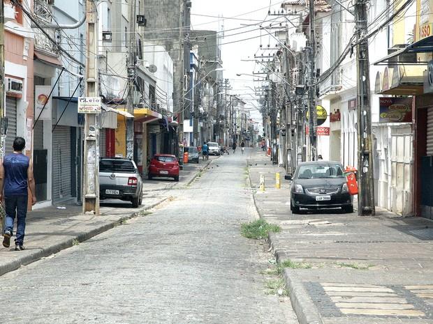Comércio fecha as portas em São Luís (MA) no feriado desta quareta-feira (29) (Foto: De Jesus/O Estado/Arquivo)