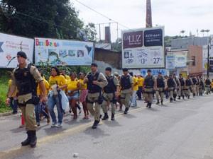 Segurança reforçada Ilhéus Bahia (Foto: Abiel da Silva Santos/Arquivo pessoal)