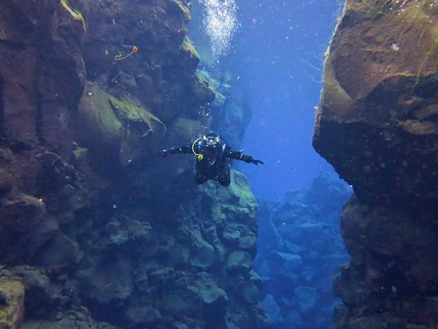 """""""O que me marcou mais foi o mergulho. Imperdível e indescritível"""", afirma o engenheiro hidrólogo. (Foto: Victor Paca/VC no G1)"""
