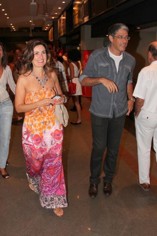 William Bonner e Fátima Bernardes conferem espetáculo no Rio (Foto:  Alex Palarea/Agnews)
