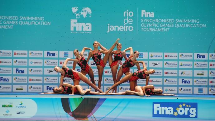 Espanha nado sincronizado evento-teste (Foto: João Gabriel Rodrigues )