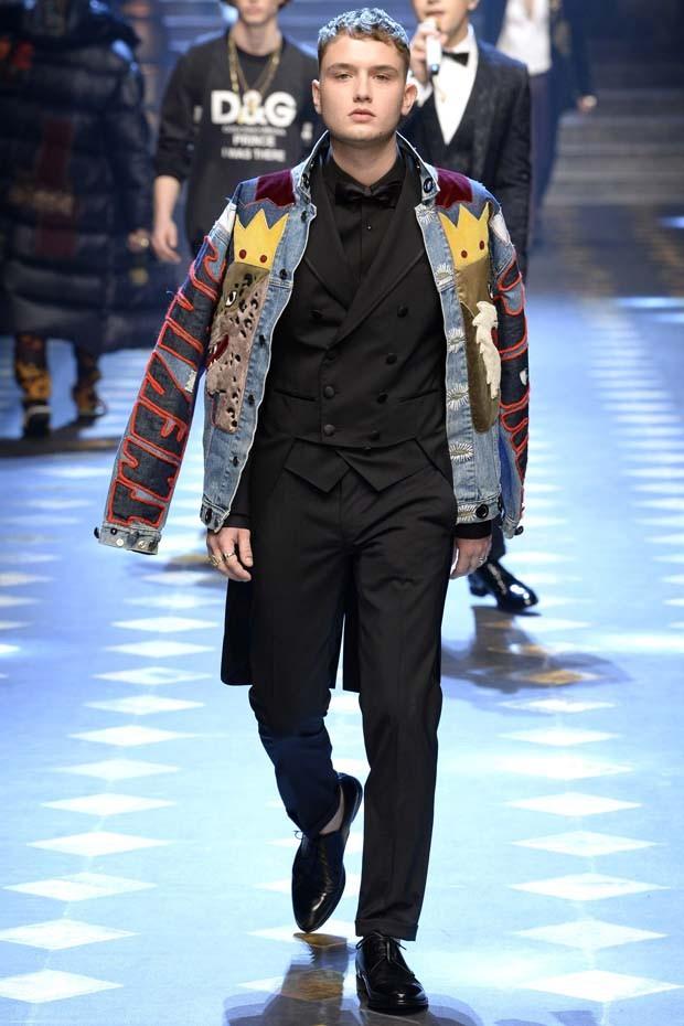 Dolce & Gabbana - Semana de Moda de Milão inverno 2017 (Foto: Imaxtree)