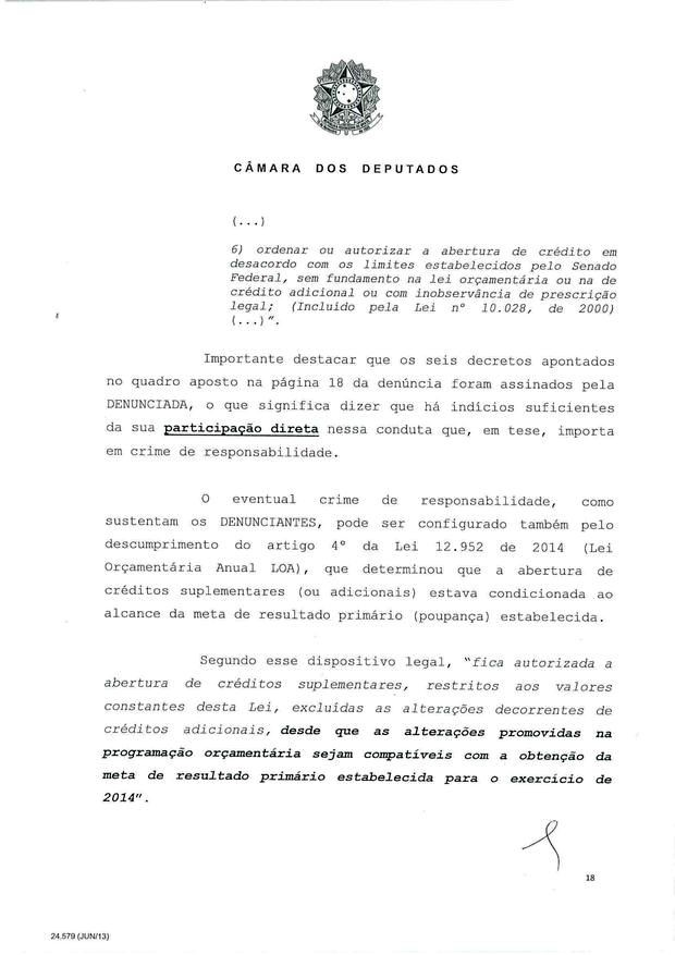 18 - Leia íntegra da decisão de Cunha que abriu processo de impeachment (Foto: Reprodução)