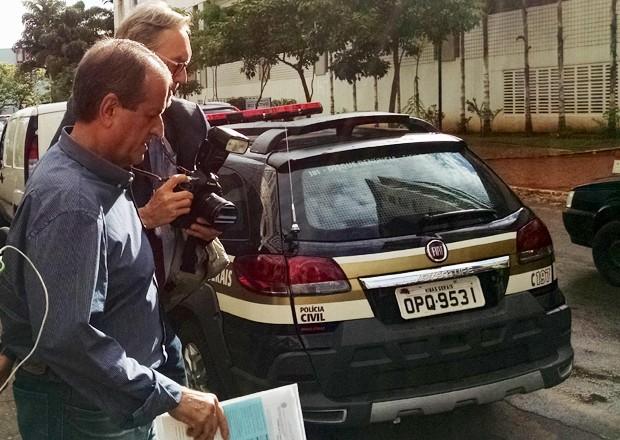 O ex-deputado federal Valdemar da Costa Neto deixa a VEP, em Brasília (Foto: Lucas Salomão/G1)