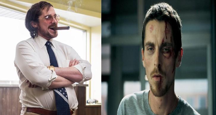 Poucos artistas ganharam e perderam tantos quilos de um filme para o outro quanto Christian Bale. O ator ficou praticamente esquelético em 'O Operário', ganhou músculo para filmar 'Batman Begins' e engordou 20 Kg para 'Trapaça'. (Foto: Divulgação)