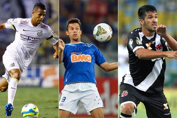 Santos, Cruzeiro e Vasco jogam nesta quarta, dia 18, e a Globo exibe por todo o Brasil (Foto: globoesporte.com)