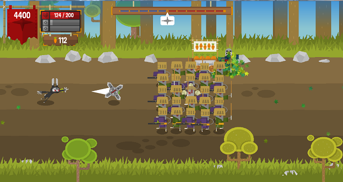 Ninjin: Clash of Carrots em imagem de sua versão beta. (Foto: Divulgação)