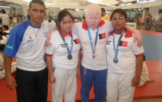 Jodocas paraibanos conquistam três medalhas nas Paralimpíadas Escolares, em São Paulo (Foto: Divulgação / Secom-PB)