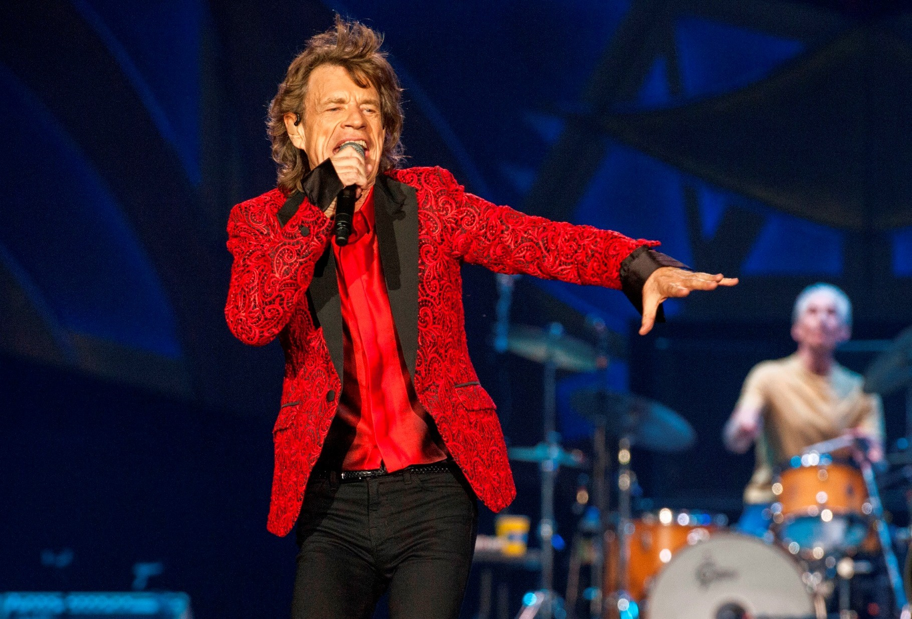 Mick Jagger vai ser pai pela oitava vez, aos 72 anos (Foto: Barry Brecheisen/AP)