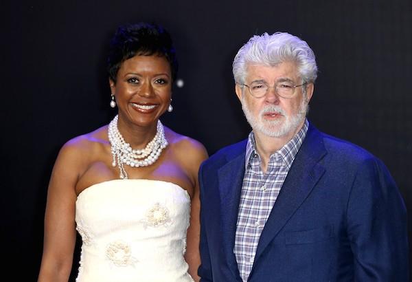 O diretor George Lucas e sua esposa, Mellody Hobson (Foto: Getty Images)