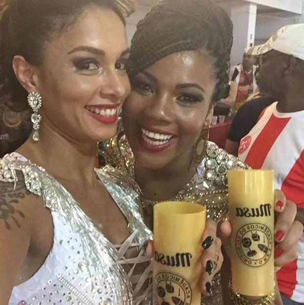 As musas da Salgueiro Milena Nogueira e Fernanda Figueredo (Foto: Reprodução/Instagram)
