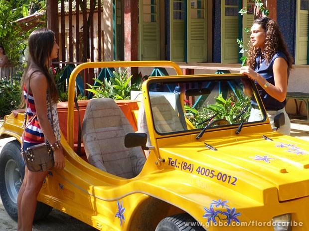 Carol abre caminho para Taís ficar com Lino (Foto: Flor do Caribe / TV Globo)
