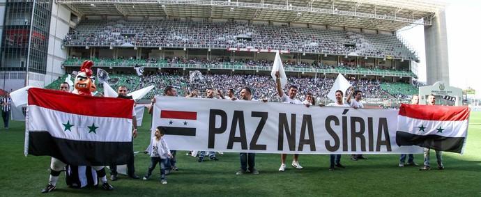 Homenagem aos refugiados da Síria no Independência (Foto: Bruno Cantini/ Flickr Atlético-MG)