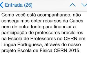 Professora recebeu a informação que teria que pagar a viagem (Foto: Daniela Rojas / arquivo pessoal)