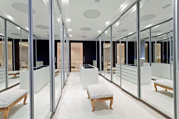 Prestigeous Walk In Closet. Clean Lines With An Inclusion Of Art Deco  Elements. Black Metro Walnut Dressing Room   The Clive Christian  Contemporaryu2026