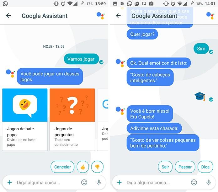 Google Assistant traz joguinhos e brincadeiras de adivinhação dentro do Allo (Foto: Reprodução/Elson de Souza)