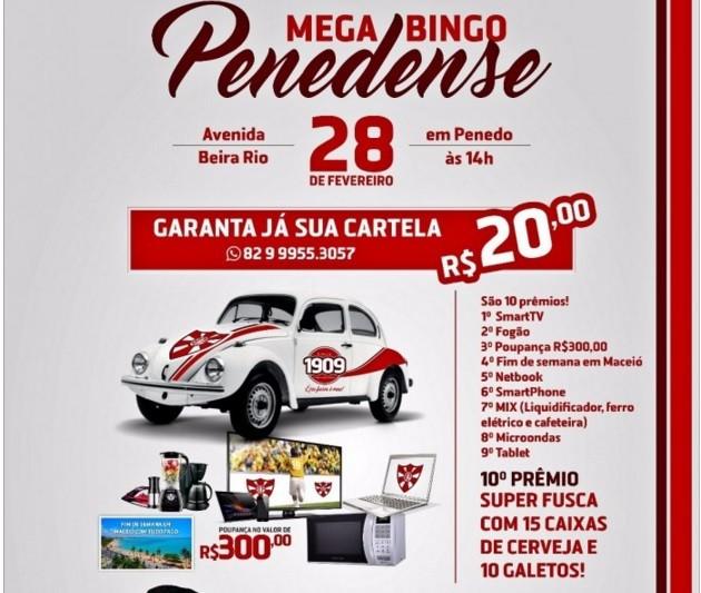 Divulgação do bingo do Penedense (Foto: Divulgação / Penedense)