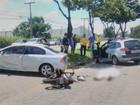 Motociclista morre após bater contra carro em cruzamento, em Goiânia