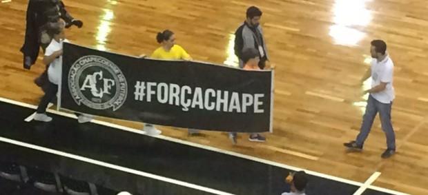 Corinthians x Sorocaba - final liga paulista futsal - homenagem chapecoense